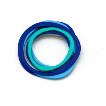 Brooch Wire Blue ALB1